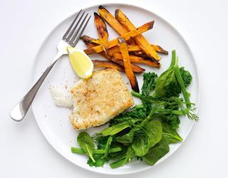 Healthy fish and chips ()