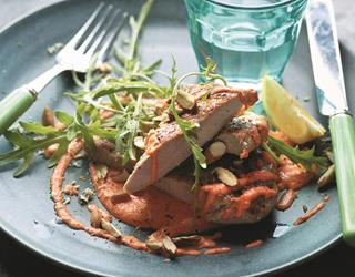 Bashed pork with red pepper mayo  (Joe Wicks)