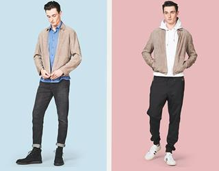 Ways to wear a suede sports jacket FS magazine ()