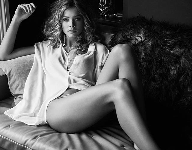 Lingerie model valentines photoshoot ()