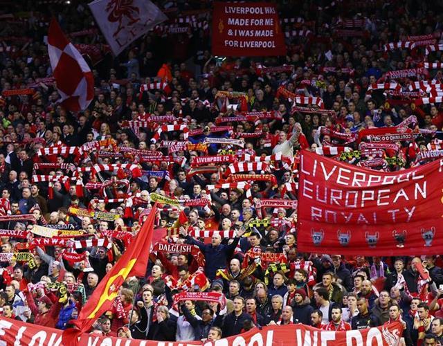 Liverpool fans Liverpool vs Borussia Dortmund ()