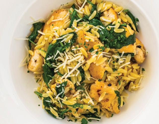 Chicken with orzo pasta  (Tom Hirschfeld)