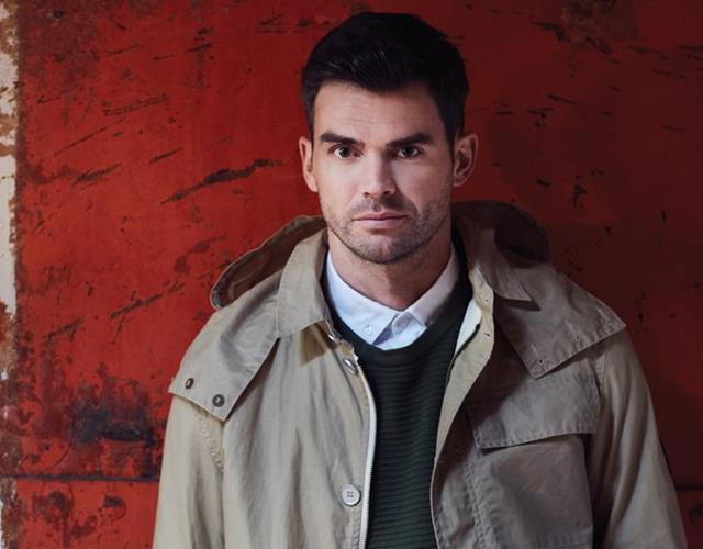 James Anderson modelling for a fashion shoot ()