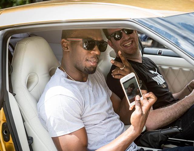 Usain Bolt selfie ()