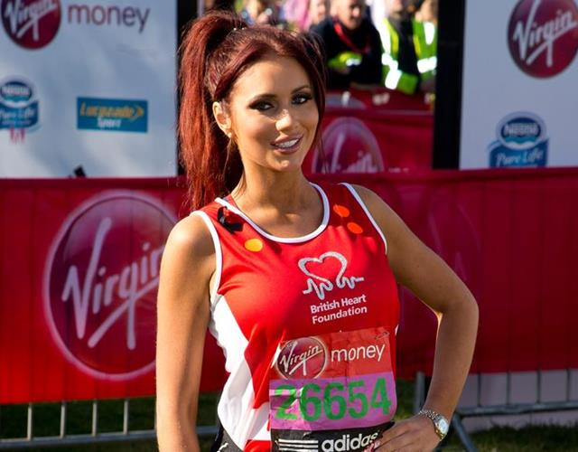 Amy Childs at the Virgin London Marathon (Getty Images)