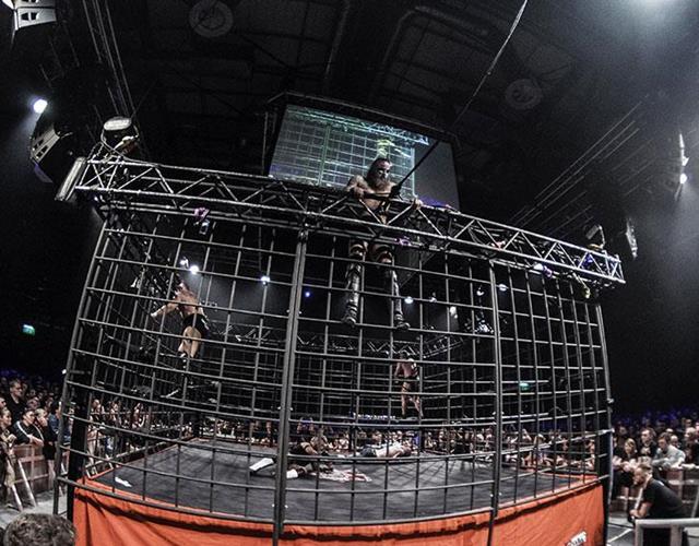 Insane championship wrestling cage match ()