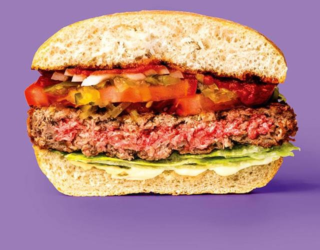 Impossible foods veggie burger ()