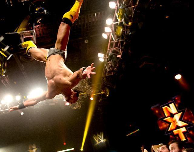 Neville WWE jump (Craig Ambrosio)