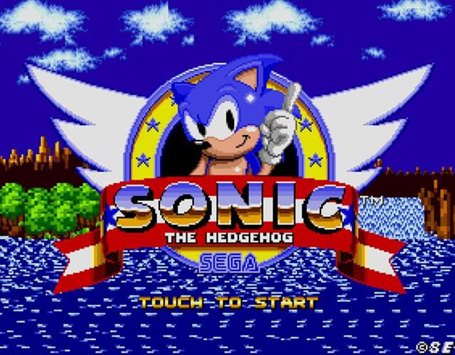 Sonic the Hedgehog title screen ()