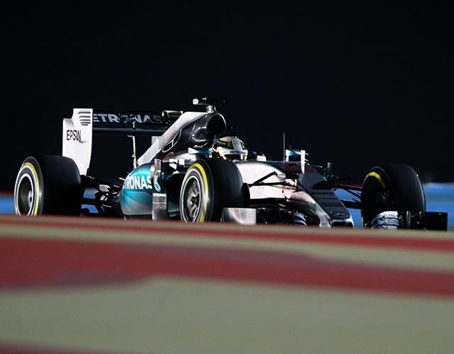 Lewis Hamilton 2015 Bahrain Grand Prix Mercedes (Getty Images)