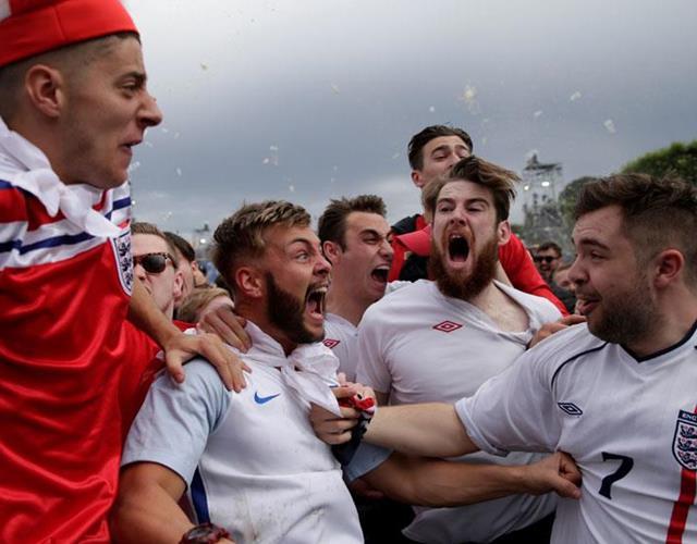 England fans vs. wales ()