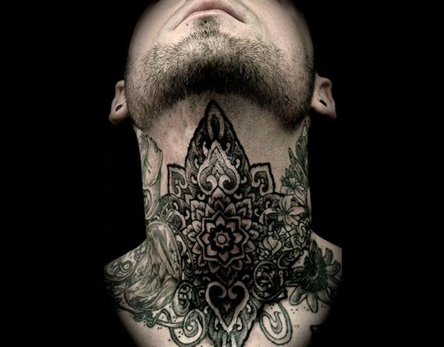Neck tattoo ()