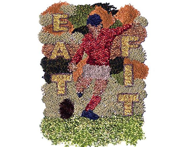 Eat fit footballer illustration (Chris Barker)