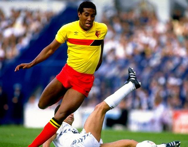John Barnes of Watford in action during the Canon League Division One match against Tottenham Hotspur (Getty Images)