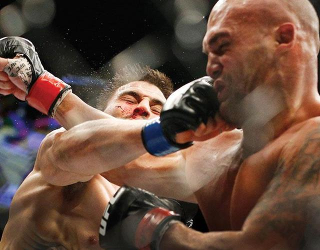 MMA punch in the face ()