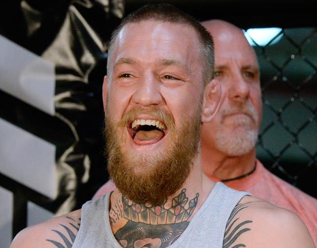Conor McGregor laughing ()