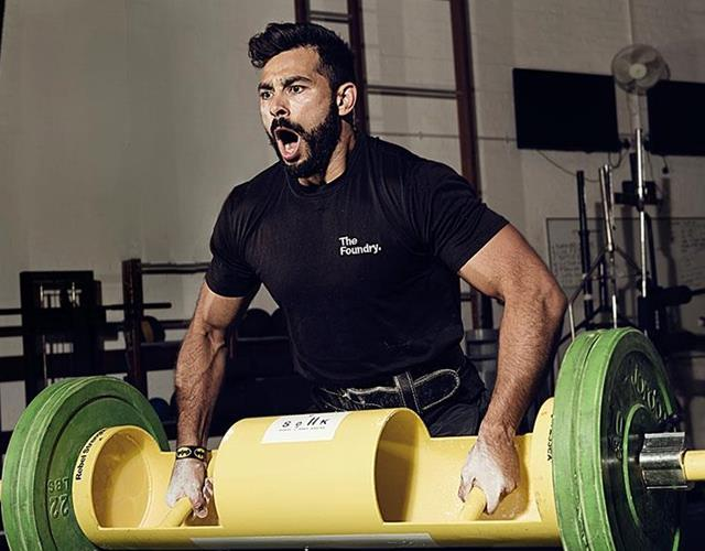 Ben Gotting's Strongman workout with FS magazine ()