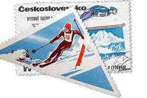 Skiing stamps ()