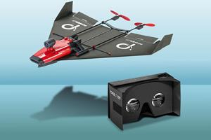 PowerUp FPV paper aeroplane drone ()