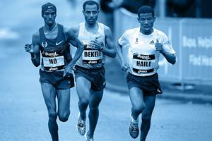 Mo Farah, Bekele, Haile running ()