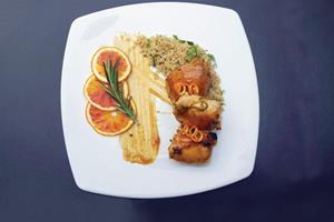 Chicken and orange sauce ()