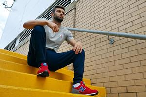 Mark Wood England Cricketer wearing New Balance ()