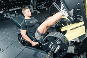 Alex Davies leg workout for FS Magazine ()