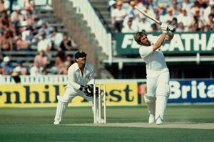 Sir Ian Botham batting England vs Australia fourth test Edgbaston 1981 ()