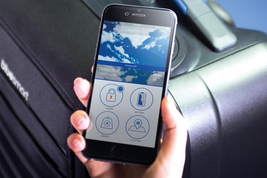 Suitcase phone tracking bluesmart ()