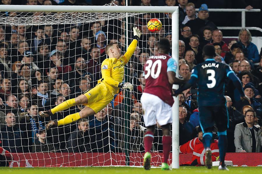 Joe Hart saves Dimitri Payet's free kick against West Ham   (Steve Neaves)