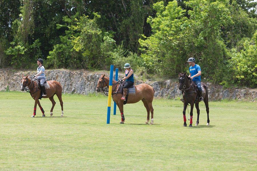 Polo on horseback in Barbados ()