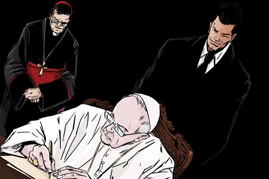 Tony Schiena with the pope ()