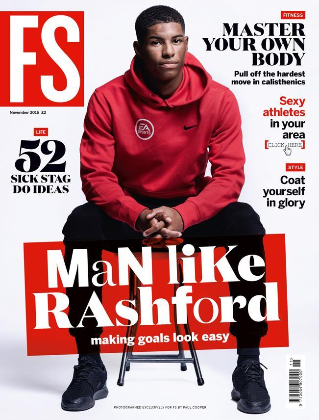 Marcus Rashford magazine cover FS magazine ()