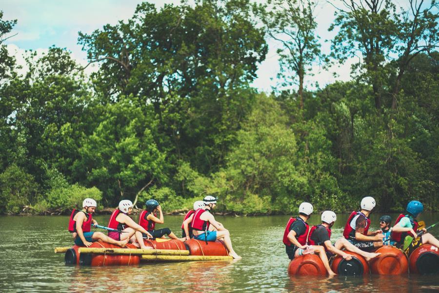 Raft building Wildfire Festival ()