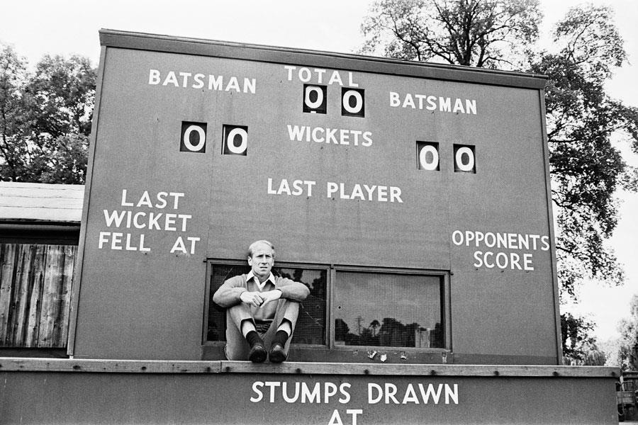 Bobby Charlton cricket scoreboard ()