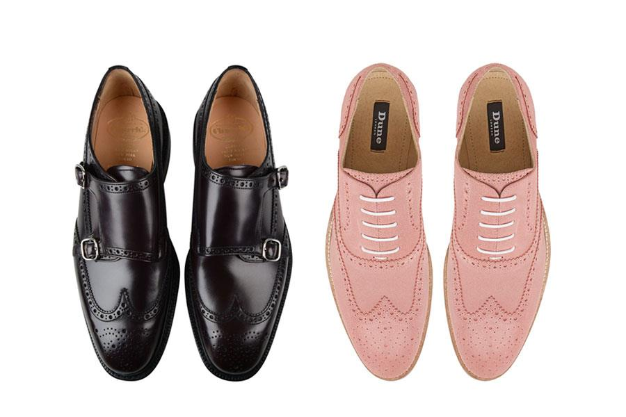 Pink suede brogues dune, Black Monkton brogues church's ()