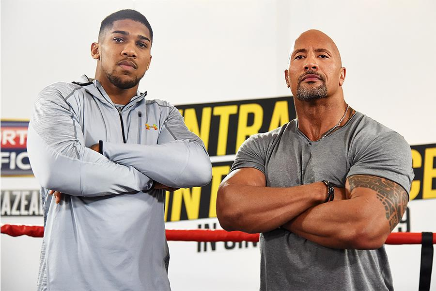 AJ & The Rock (Getty Images)