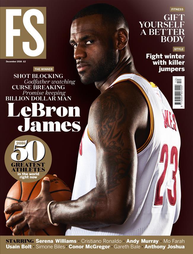 December FS magazine LeBron James cover (December FS magazine LeBron James cover)