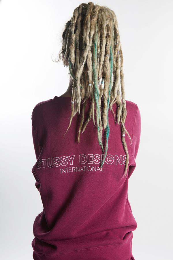 Cici Cavanagh modelling red Stussy jumper fo FS magazine ()