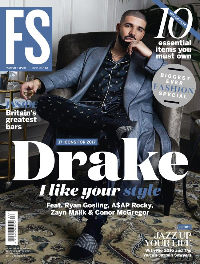 FS Magazine March 2017 front cover featuring Drake ()