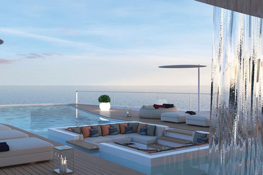 Shaddai Superyacht Swimming pool sofas ()