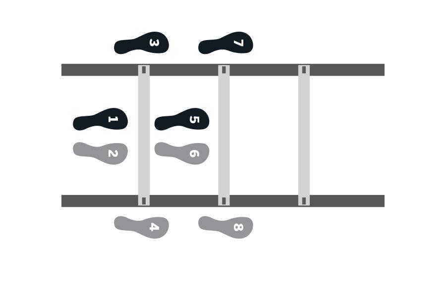 Agility ladder inside outside exerceise ()