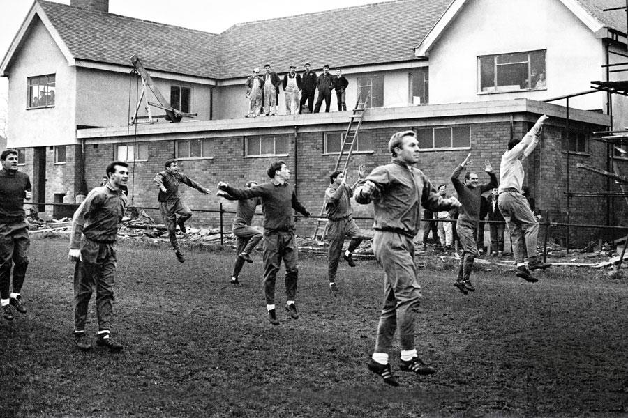 England 1966 squad training at Bellfield Liverpool ()