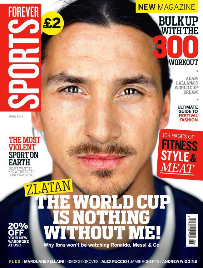 FS magazine cover Jun 2014 Zlatan Ibrahimovic ()