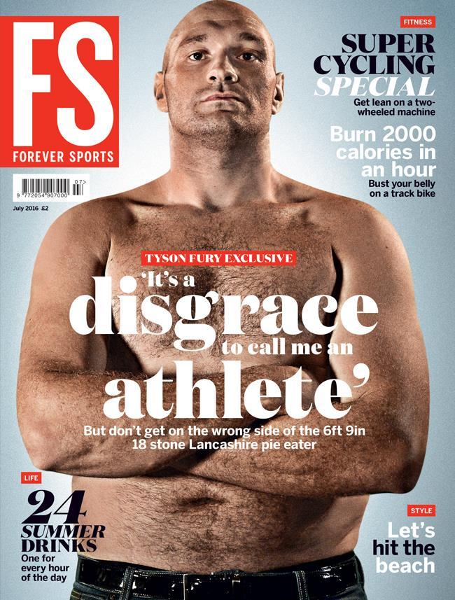 Tyson Fury FS magazine cover ()