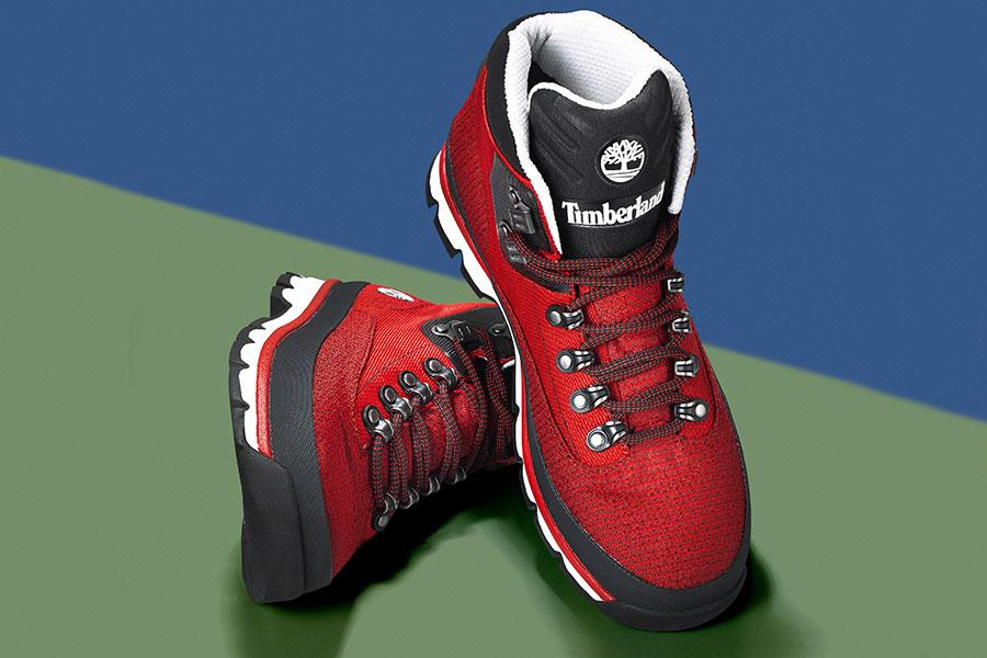Hiking boot red Timberland FS magazine ()
