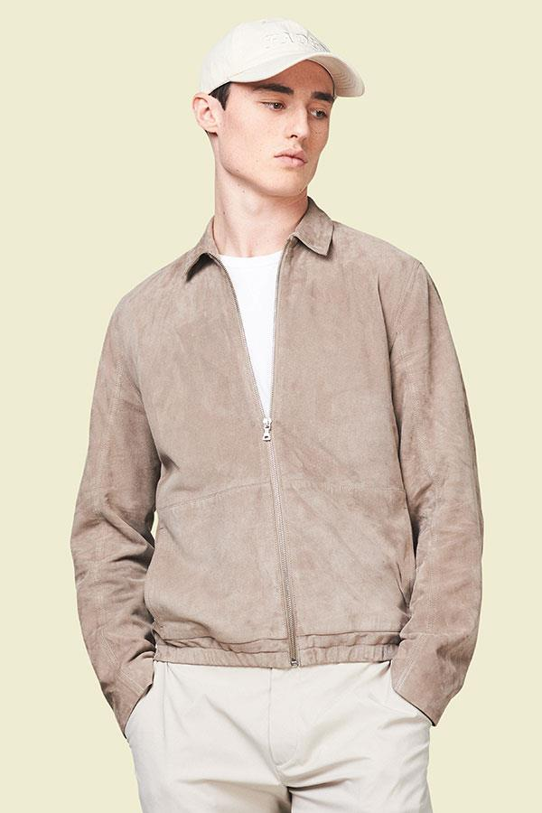 Suede sports jacket with stone colours FS magazine ()