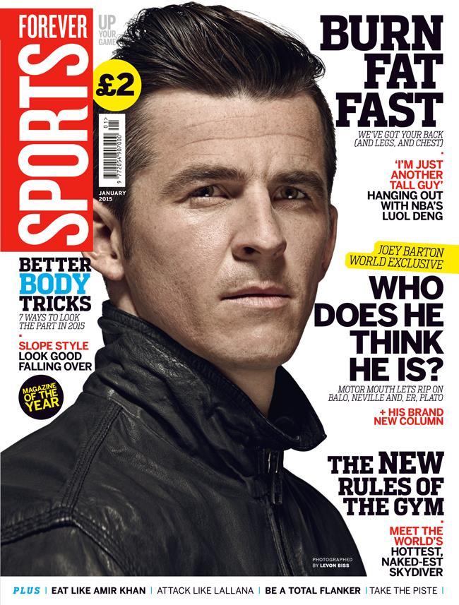 FS magazine cover January 2015 Joey Barton ()