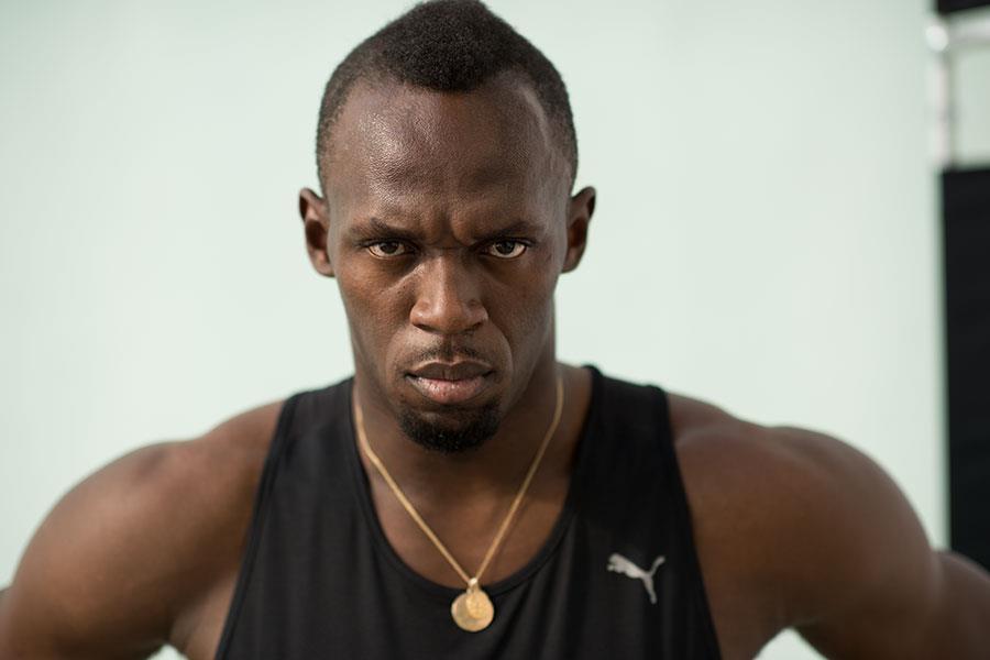 Usain Bolt face-on ()