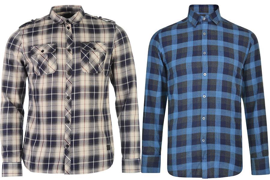 Checkered shirt Canali at flannels, Checked shirt Firetrap at USC ()